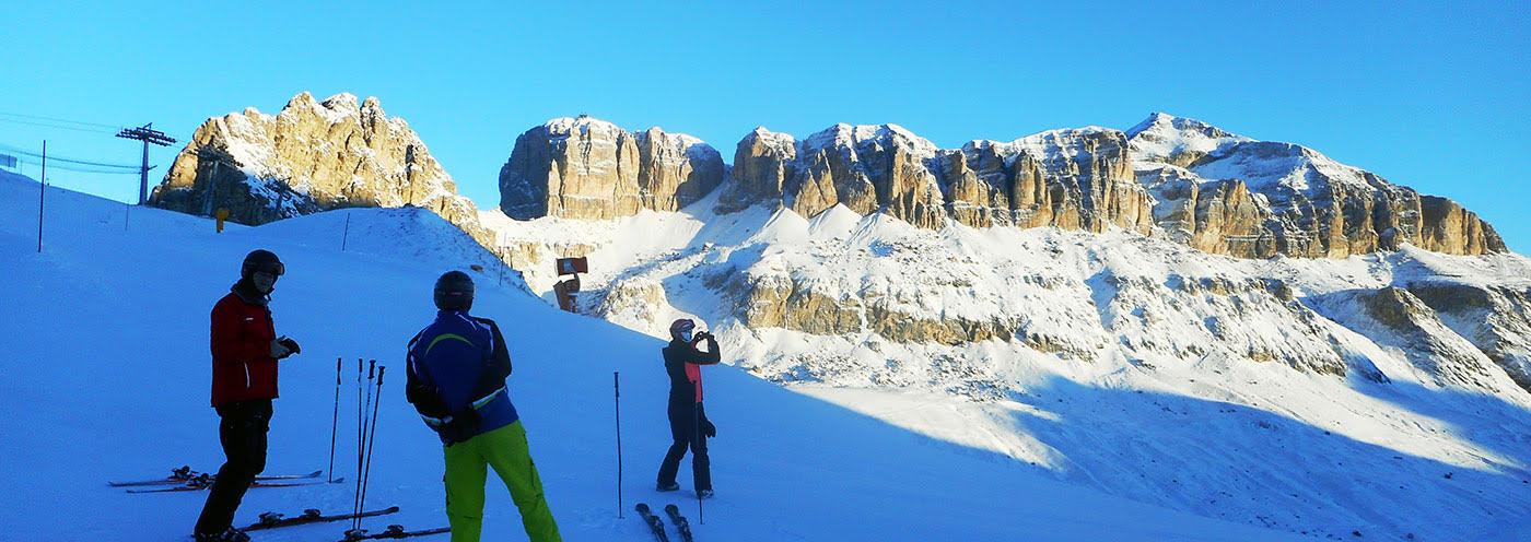 Dolomieten Sella massief skihuttentocht